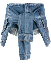 Alexander Wang Sleeve Tie Embroidered Shorts - Blue