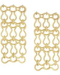 Ellery Chain-link Earrings - Metallic