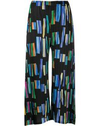 Pleats Please Issey Miyake Hopscotch Colors Printed Culottes - Black