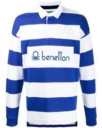 Benetton Long Sleeved Polo Shirt - Blue