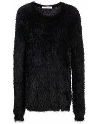 1017 ALYX 9SM Faux-fur Round-neck Jumper - Black