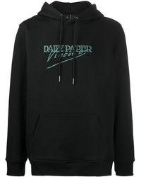 Daily Paper Split Painting Hooded Sweatshirt - Black