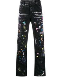 Off-White c/o Virgil Abloh Wide-leg Carpenter Jeans - Black