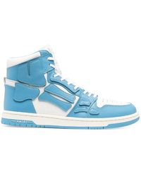 Amiri Skeleton-patch High-top Trainers - White