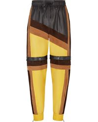 Fendi Color Block Track Pants - Yellow