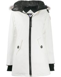 Canada Goose Hooded Down Parka - White