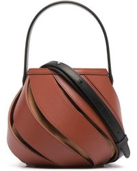 Mlouye Cut Out-detail Leather Tote Bag - Brown