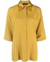Piazza Sempione Three-quarter Length Sleeve Shirt - Yellow