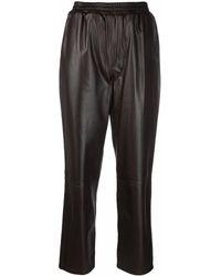Arma Straight-leg Leather Pants - Brown