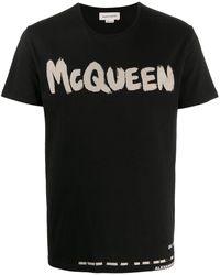 Alexander McQueen - Graffiti Logo T-shirt - Lyst