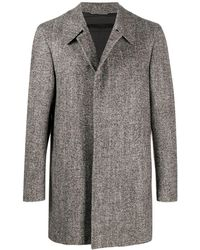 Canali Houndstooth Single-breasted Coat - Brown