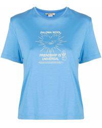 Paloma Wool Souvenir Corazon Crew Neck T-shirt - Blue
