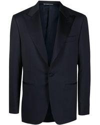 Canali Single-breasted Tuxedo Blazer - Blue
