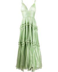 Maria Lucia Hohan Pleated Evening Dress - Green