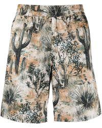 Acne Studios Desert-print Swim Shorts - Multicolour