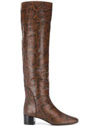 Giuseppe Zanotti Snakeskin Knee High Boots - Brown