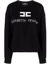 Elisabetta Franchi Logo Print Sweatshirt - Black