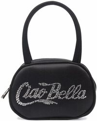 AMINA MUADDI Ciao Bella Crystal-embellished Mini Bag - Black