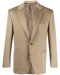 Canali Single-breasted Blazer - Brown