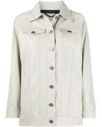 FEDERICA TOSI Buttoned Leather Jacket - Multicolour