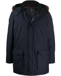 Fay Hooded Parka - Blue