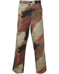 Off-White c/o Virgil Abloh Camo Stencil Trousers - Green