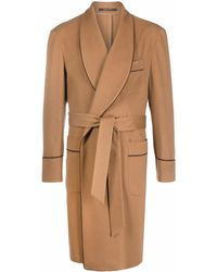 Tagliatore Belted Trench Coat - Brown