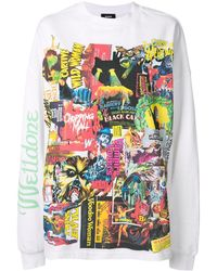 we11done Horror Collage T-shirt - White