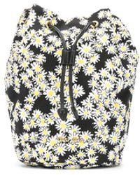 Miu Miu Daisy Print Make Up Bag - Black