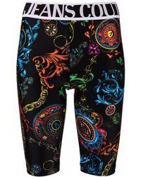 Versace Jeans Couture Baroque-print Short leggings - Black