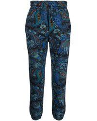 Etro Paisley-print Track Trousers - Blue