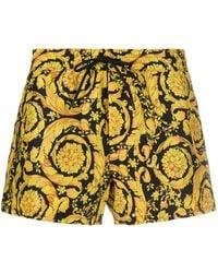 Versace Barocco-print Swim Shorts - Black