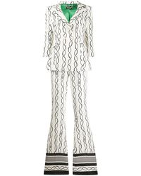Elisabetta Franchi Chain Print Two Piece Suit - White