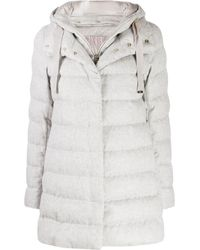 Herno Hooded Padded Coat - Gray