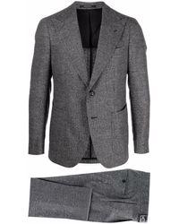 Tagliatore Single-breasted Virgin Wool Suit - Grey