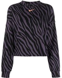 Nike Swoosh Zebra-print Top - Black