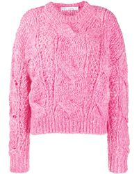 IRO Chunky Cable-knit Jumper - Pink