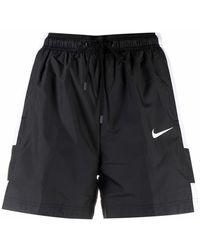 Nike Swoosh-detail Shorts - Black