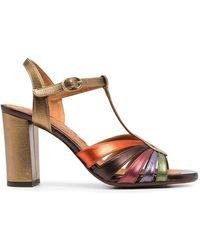 Chie Mihara Strappy Heeled Sandals - Metallic
