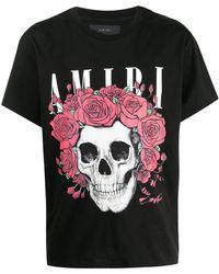 Amiri Grateful Dead Skull-print Cotton T-shirt - Black