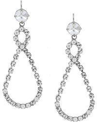 Miu Miu Infinity Drop Earrings - Metallic