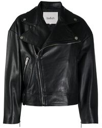 Ba&sh Leather Biker Jacket - Black