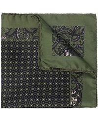 Tagliatore Lace Print Scarf - Green