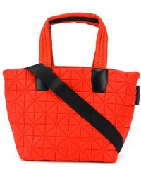 VeeCollective Medium Quilted Tote Bag - Orange