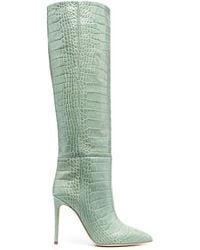 Paris Texas Croco-embossed Boots - Green