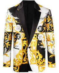 Versace Barocco Acanthus Print Blazer - White
