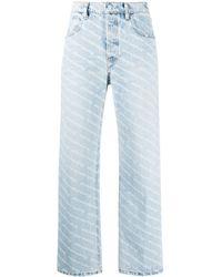 Alexander Wang Logo-print Straight-leg Jeans - Blue