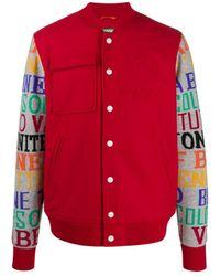 Benetton Printed Sleeve Bomber Jacket - Red