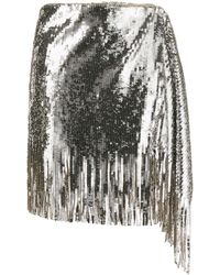 Pinko Sequin Asymmetric Skirt - Gray
