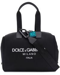 Dolce & Gabbana Logo Print Holdall - Black